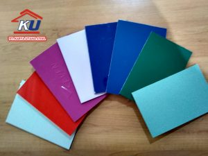 COATING WARNA 0,30MM PADA ACP JIYU PVDF TEBAL 4MM